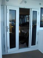 Direct Glazed Triple Facia Door, Open,  Alucraft - Lous Cat